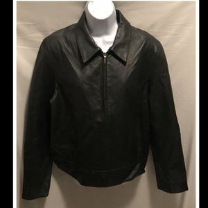 Size Large Sonoma Leather Jacket Black